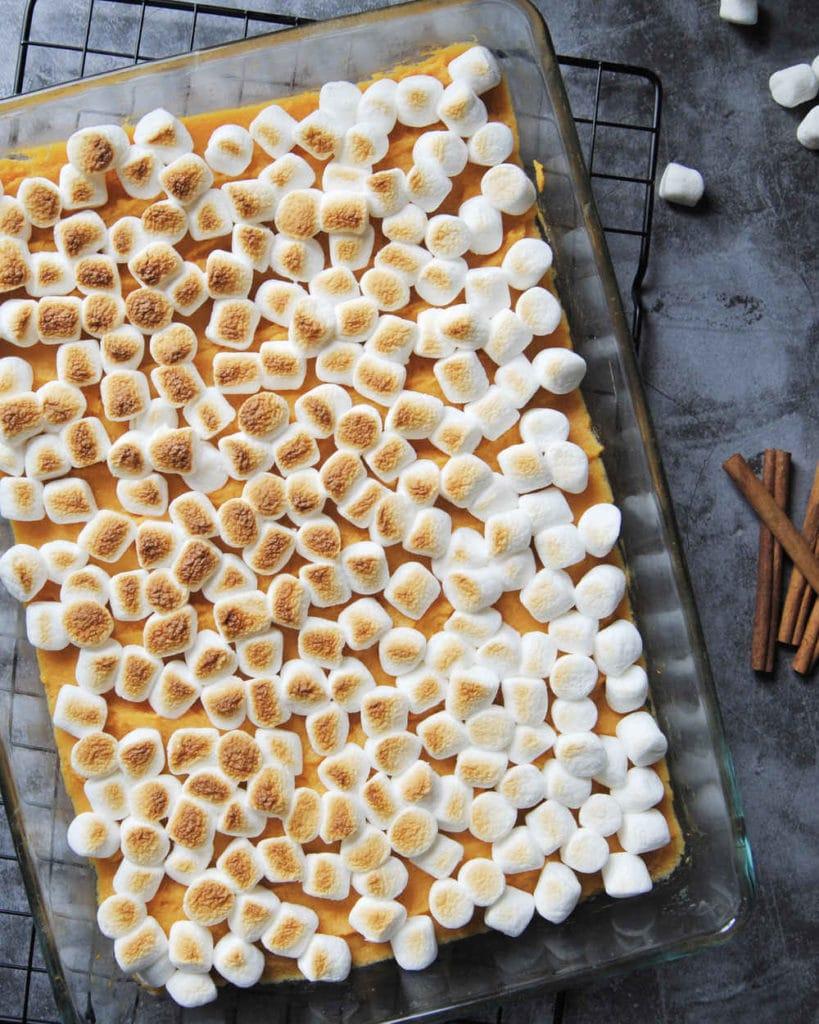 5-Ingredient Maple Sweet Potato Casserole - Cropped Final Image