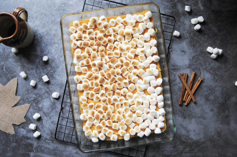 5-Ingredient Maple Sweet Potato Casserole