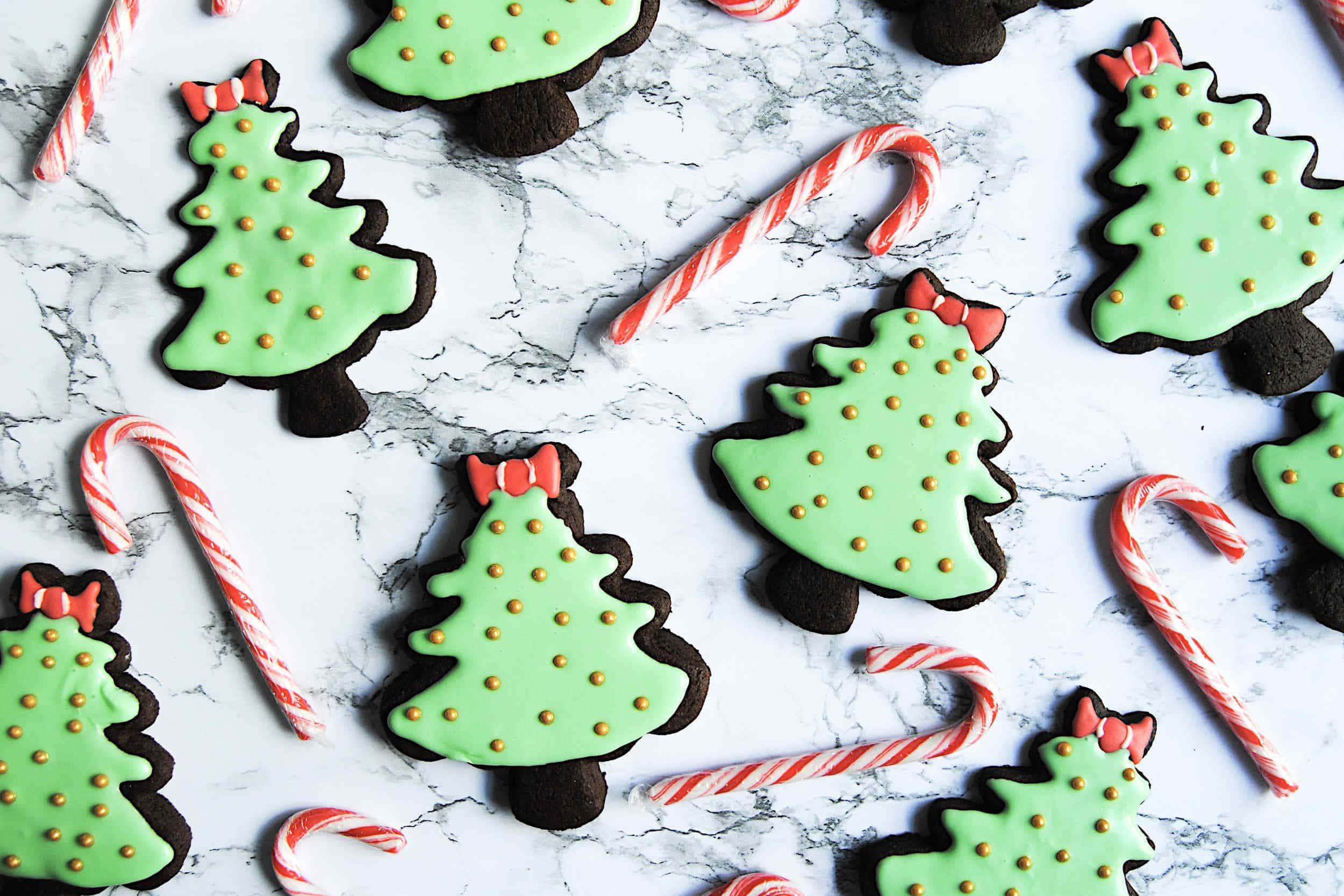 Chocolate Peppermint Christmas Cookies - Featured Image