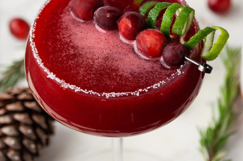 Leftover Cranberry Sauce Cosmo