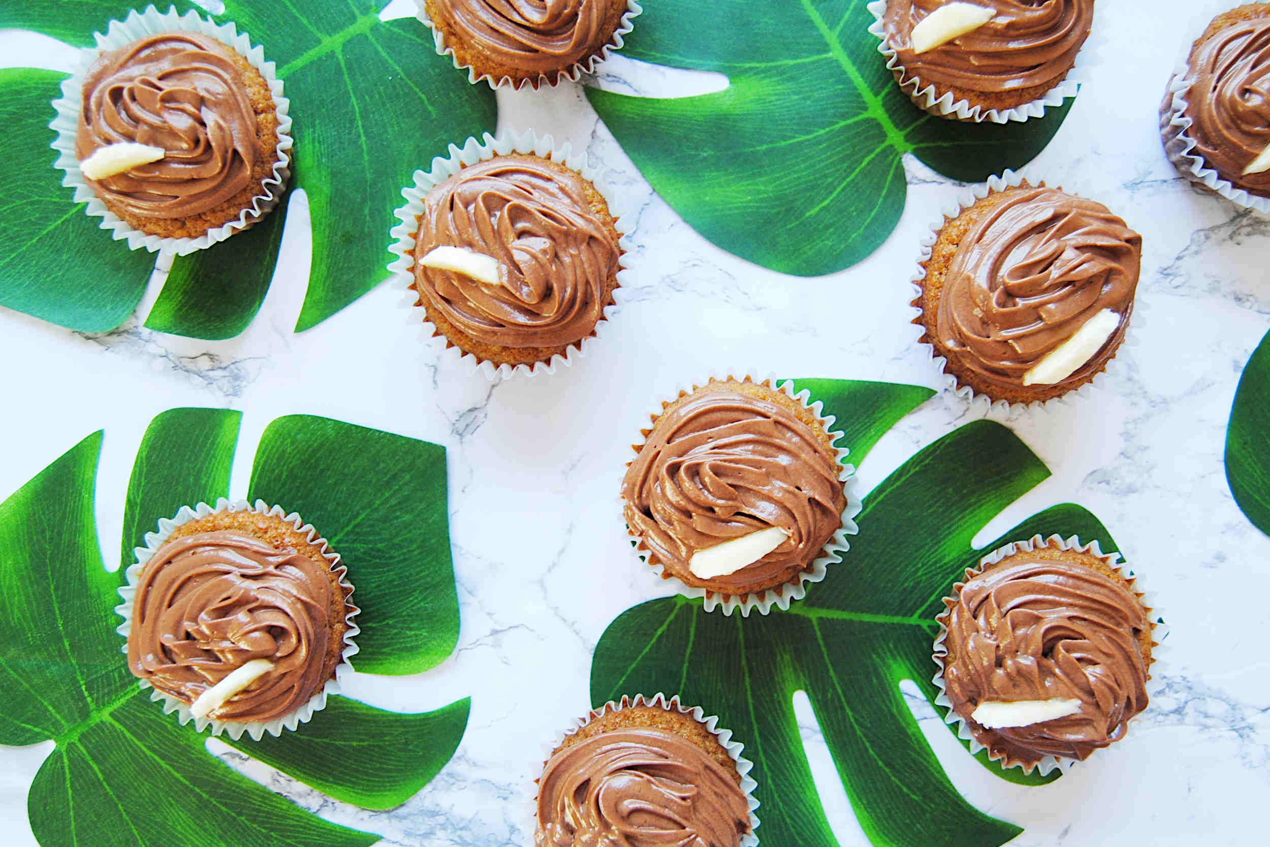 Banana Muffins with Nutella Ganache - Featured Image