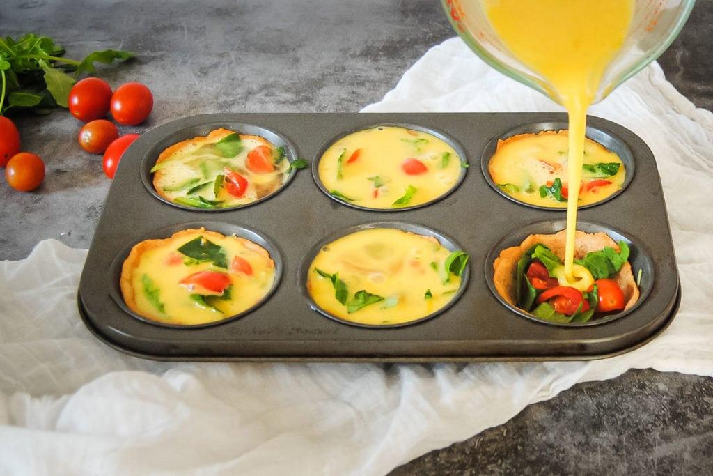 Adding Egg To Quiche