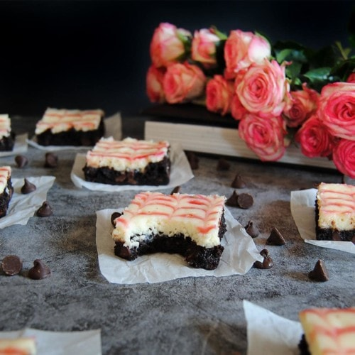 Raspberry Swirl Cheesecake Brownies - New Featured Image
