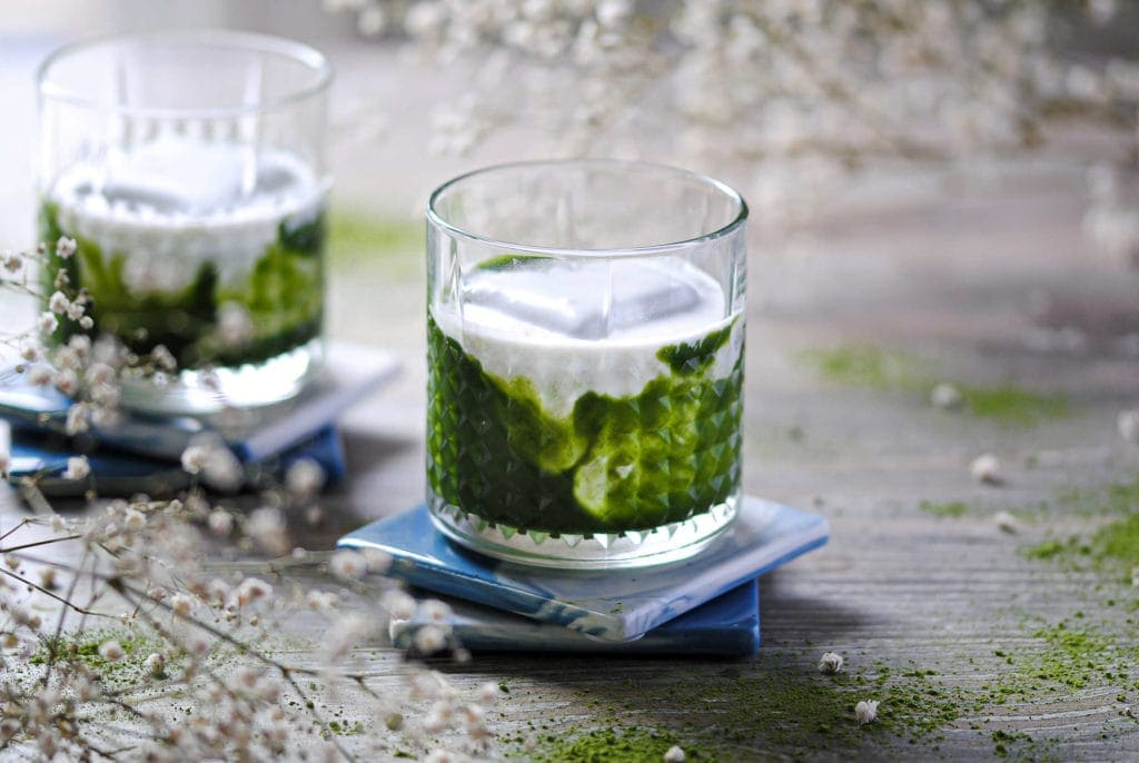 the green irish matcha vodka cocktail featured image