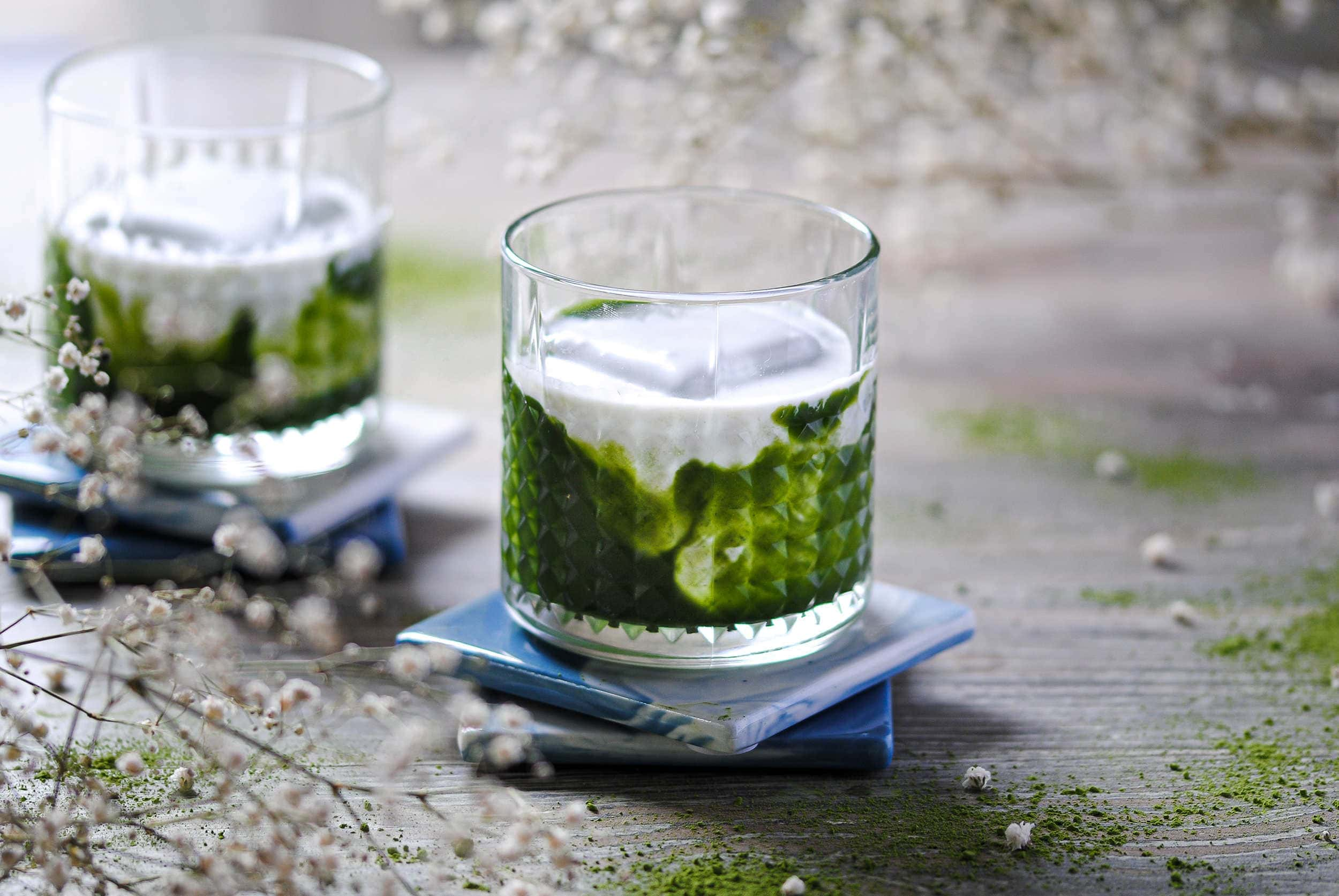 the green irish matcha vodka cocktail featured image