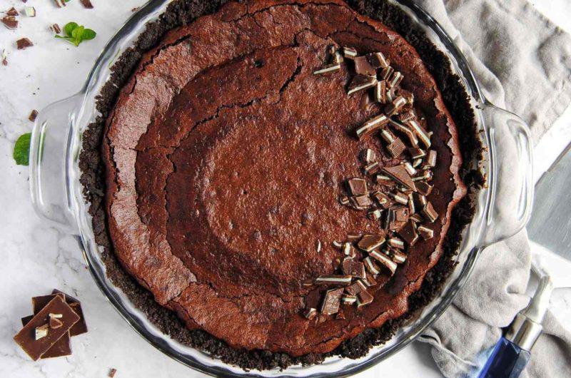 6+ Easy Pie Recipes: Chocolate Mint Pie