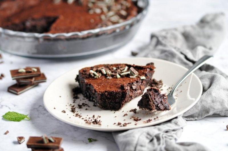 Chocolate Mint Pie with Oreo Crust
