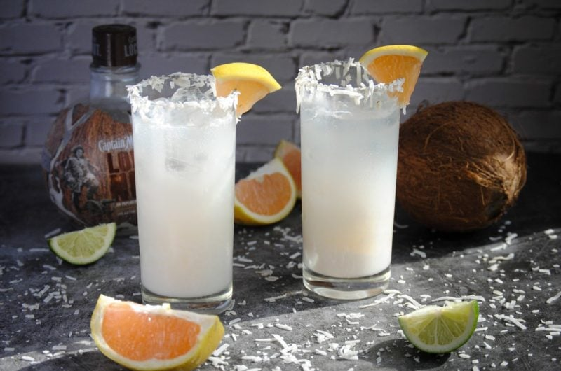 Coconut Daiquiri with Grapefruit Juice