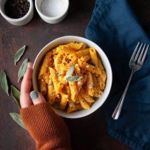 One-Pot Pasta with Pumpkin Sauce
