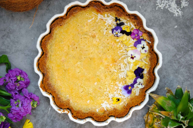 Pineapple Pie with Graham Cracker Crust