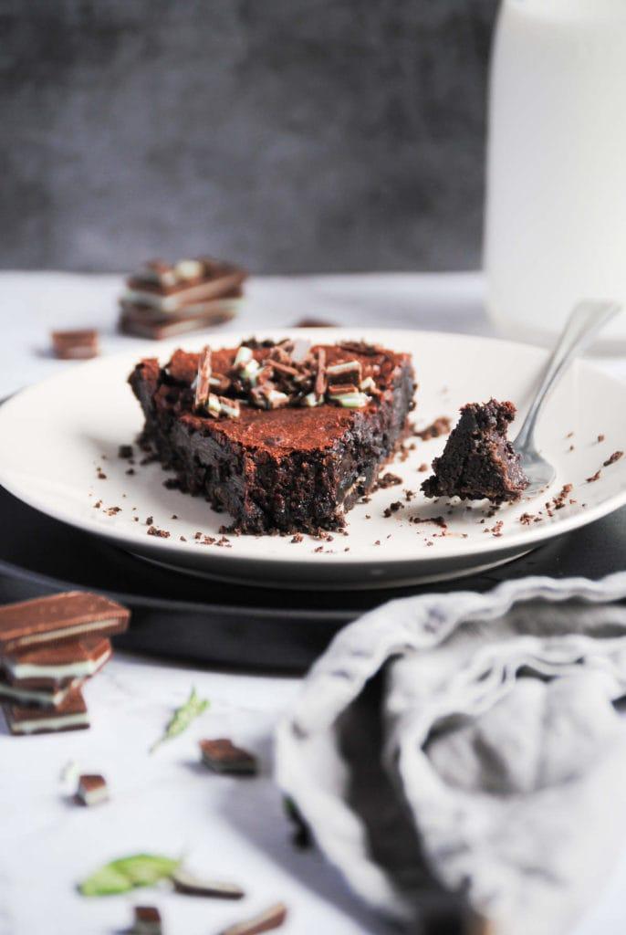 slice of chocolate mint pie for best pie recipes
