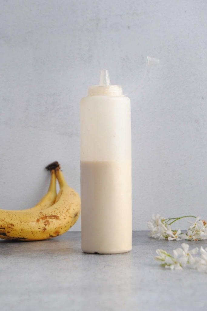 Banana Pancake Mix in Squeezable Bottle