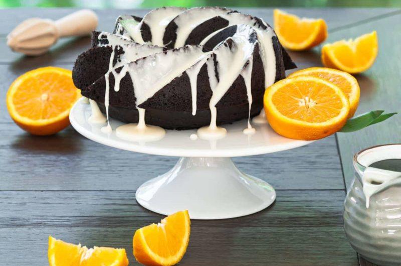 Chocolate Orange Cake with Orange Glaze
