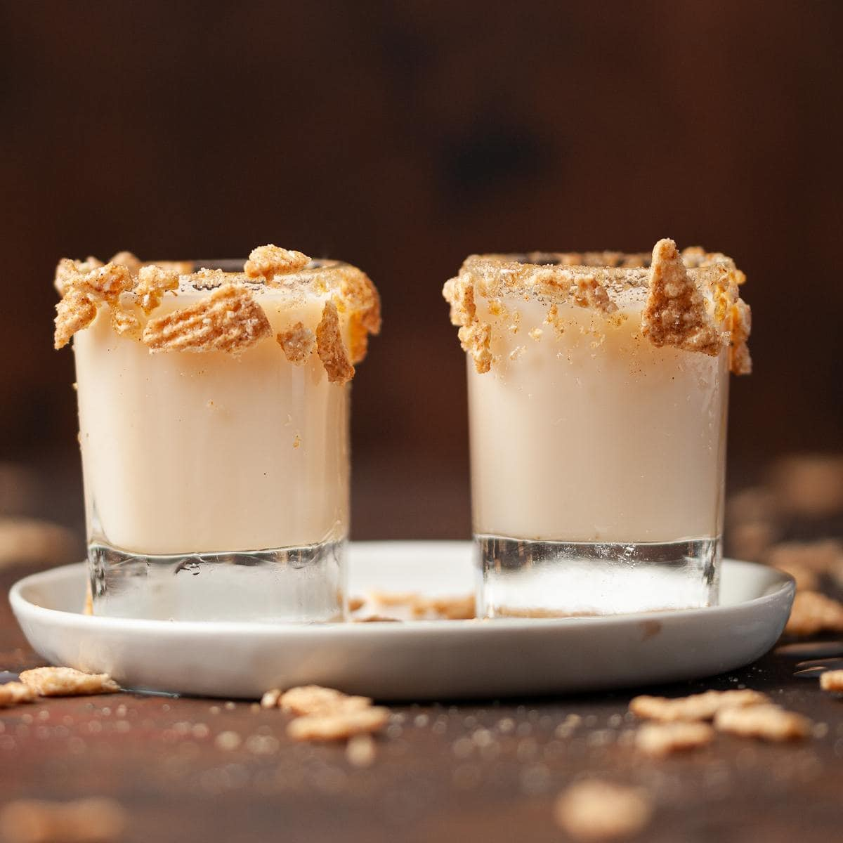 two cinnamon toast crunch shooters