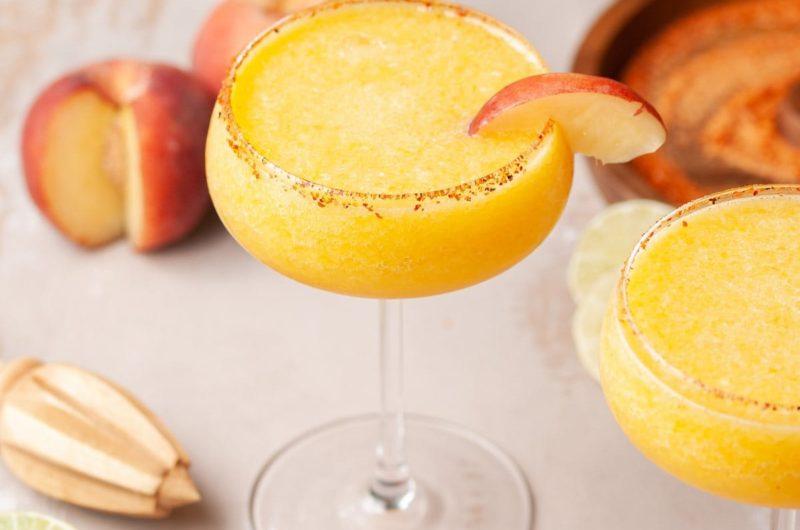 Cooling Frozen Peach Margarita