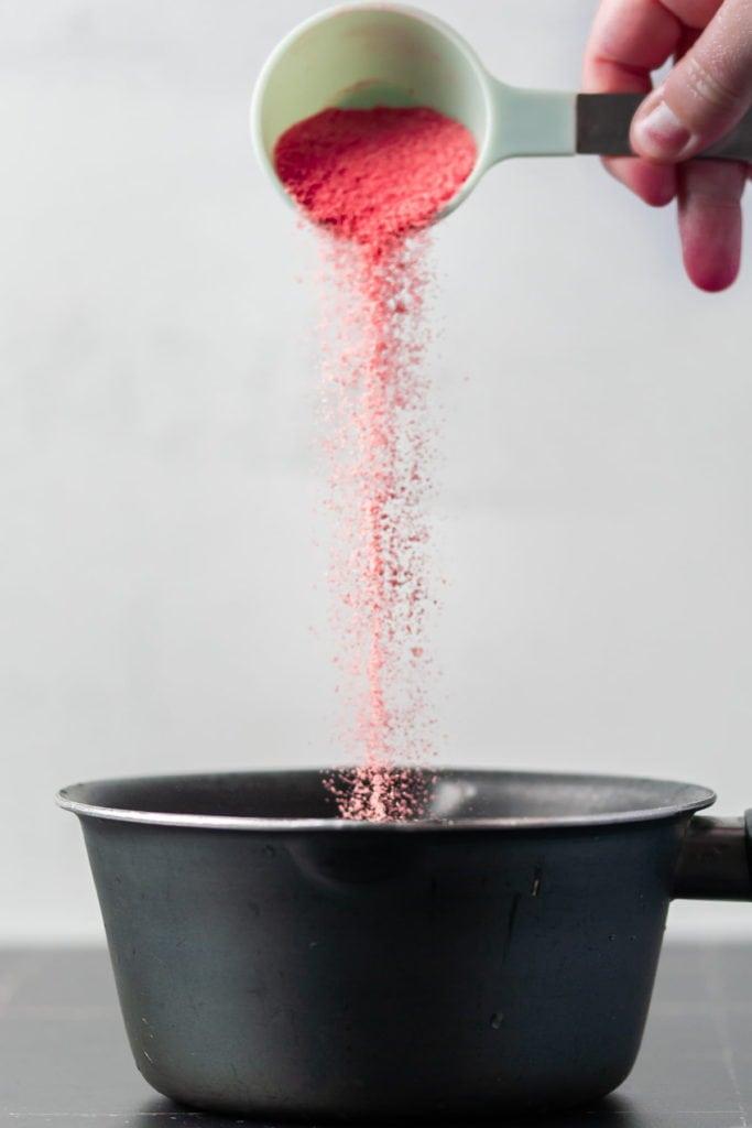 Pouring Jello into a Pot