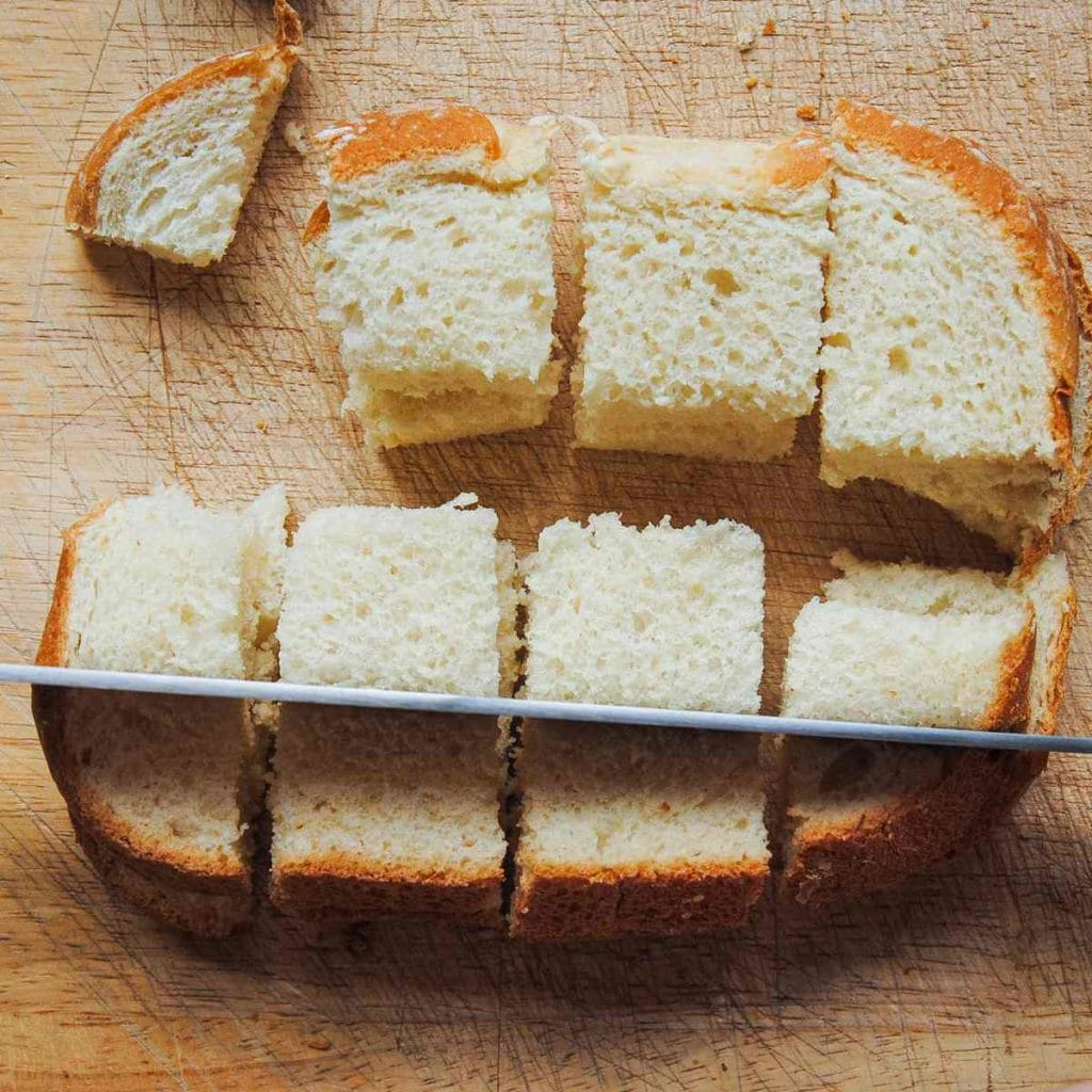 how to cube bread step 2