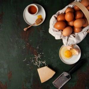 Eggs, cheese and honey