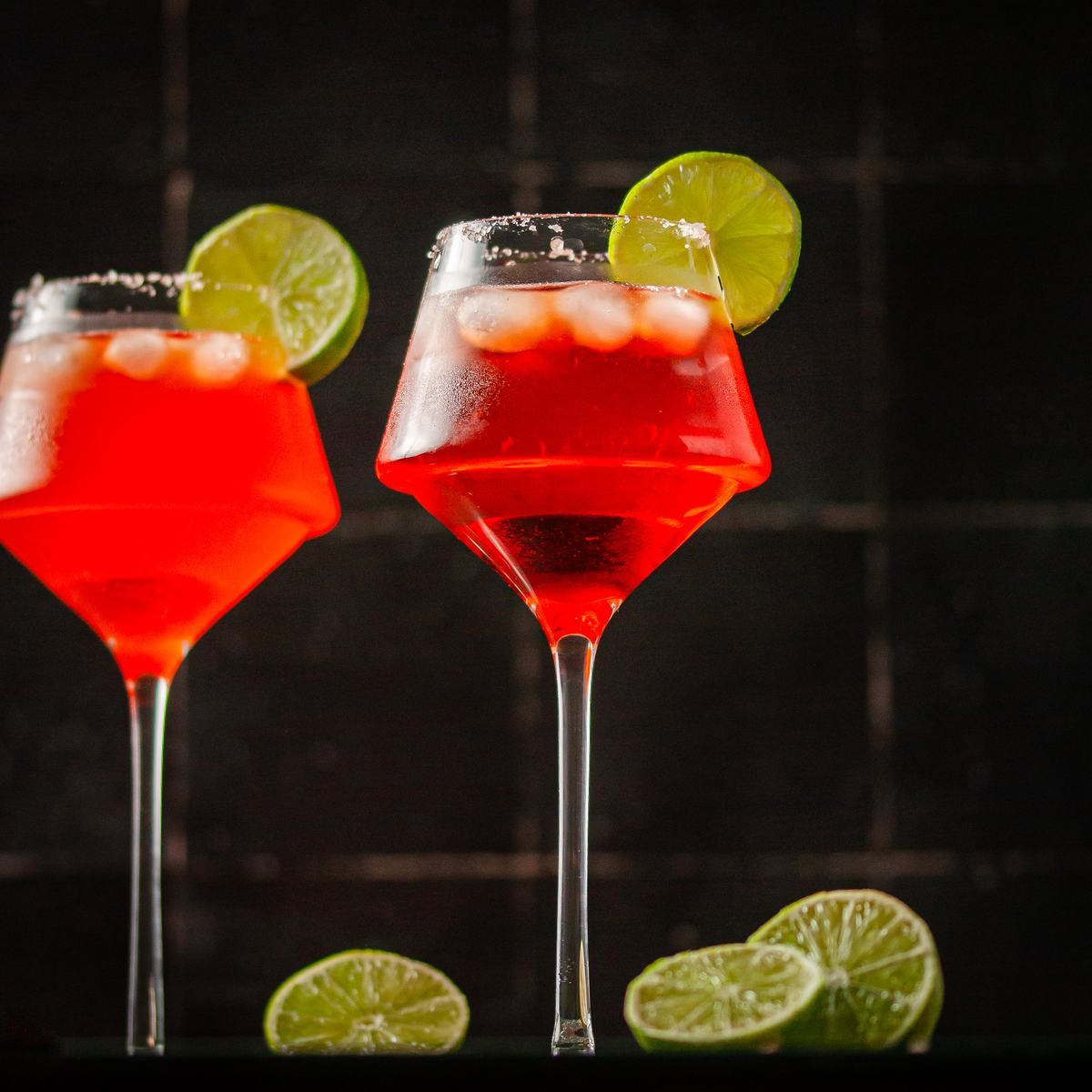 Two Ice Cold Aperol Margaritas