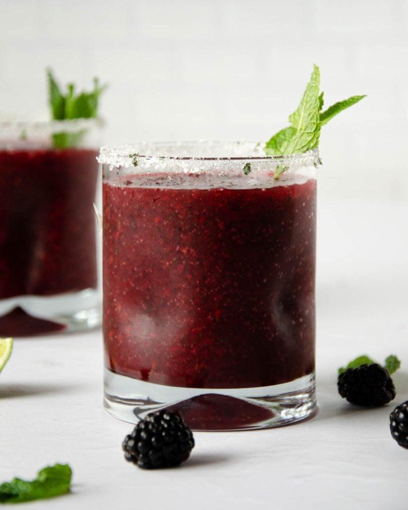 best margarita recipes - frozen blackberry margarita