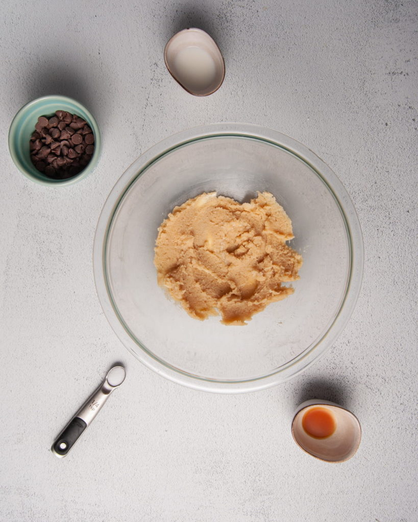 butter and sugar creamed together to form base of cookie dough