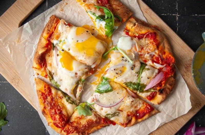 Naan Breakfast Pizza (Vegetarian)