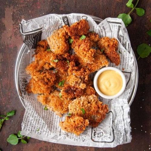 Crispy Fried Oyster Mushrooms
