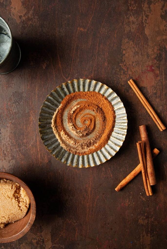 pumpkin pie spice in a little dish