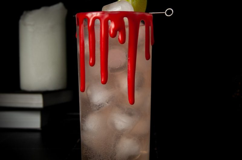 Dark & Spooky: Halloween Cocktail with Edible Fake Blood