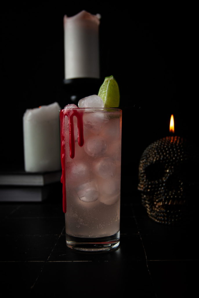 dark and spooky Halloween cocktail