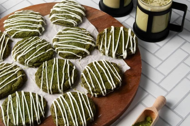 Soft and Chewy Matcha Cookies