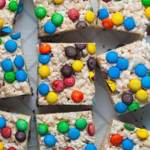 m&m's rice krispie treats