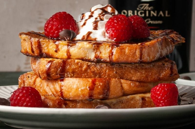 Baileys French Toast with Baileys Chocolate Drizzle