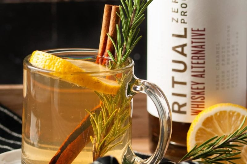 Non-Alcoholic Hot Toddy with Ritual Whiskey Alternative