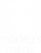 Marley's Menu Logo White Stack